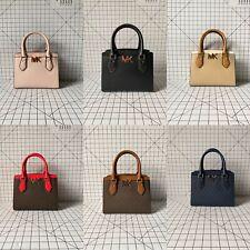 NWT Michael Kors Mott Medium Messenger PVC Signature Leather Crossbody Handbag