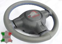 FOR FORD RANGER 05-11 GREY LEATHER STEERING WHEEL COVER, CLOSED EDGES, ROYAL BLU