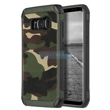 SAMSUNG GALAXY S8+ PLUS G955 GREEN CAMOUFLAGE IMPACT SHIELD RUGGED CASE COVER