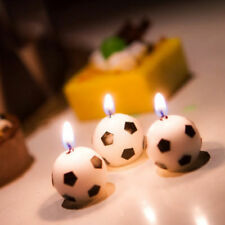6pcs Candle Romantic Rotating Football Cup Soccer Candle Home Decor Birthday