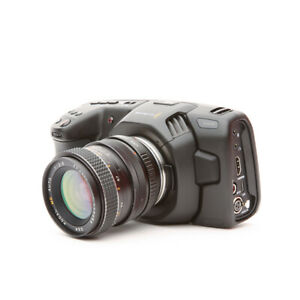 Blackmagic Design Cinema Camera 4K Camcorder - Black w/ adapter and FD 28mm F2