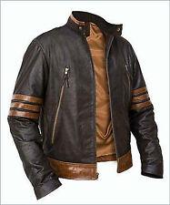 X-Men Wolverine Logans XO Replica Leather Jacket Vintage Biker Style BNWT