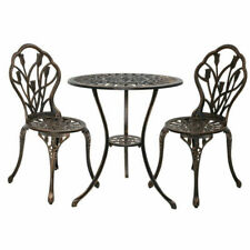 Gardeon GB-CALU-3PC-XG1018-BZ Table & Chair Set - 3 Piece