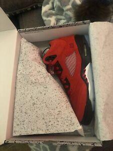 100% Authentic Jordan Retro 5 Red Raging Bull GS Size 5Y