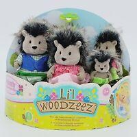 Li'l Woodzeez McBristly Porcupine Family - New 4 Piece Collectible Set