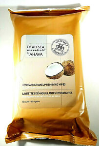 Dead Sea Essentials Hydrating Makeup Removing Wipes Infused With Coconut Extract