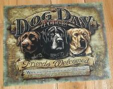 Labrador Retriever Dog Mans Best Friend Welcome Sign Metal Humor Comical Picture