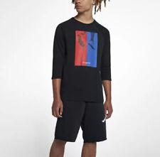 Nike Air Jordan 23 Sportswear AJ 10 CNXN Mens 3/4 Sleeve T-Shirt  Black Red Blue