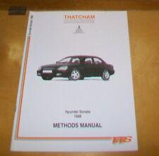 Hyundai Sonata 1998 Thatcham carrosserie Methods Manual.