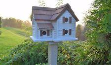 Martin Birdhouse Cottage Martin Amish handmade Large Birdhouse reclaimed wood