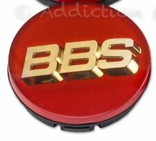 1x Genuine BBS Centre Cap, Red with Gold 3D BBS Logo 56mm - 56.24.012
