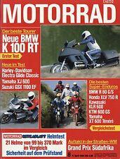 8/84 MOTO 1984 BMW k100rt r80gs egli Red lighting HONDA XLV 750r KTM 600 GS