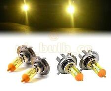 YELLOW XENON LOW + HIGH BEAM BULBS FOR Citroen C5 MODELS H7H4