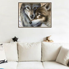 Full Drill Diamond Painting wolf couple Embroidery Cross Stitch Painting diy