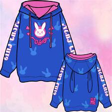 Anime Overwatch DVA Unisex Casual Jacket Hoodie Cute Lolita Sweater Coat Cosplay