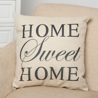 EE_ SWEET HOME LETTER LINEN PILLOW CASE CUSHION COVER SOFA BED HOME DECOR FADDIS