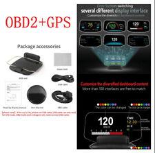 OBD2 Car HUD Head Up Display GPS Digital Speedometer Projector Trip Computer