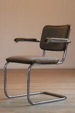 Thonet S64 P Stoff Freischwinger Haselnuss Bauhaus Klassiker Stuhl Breuer chair