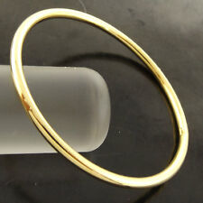 Bangle Bracelet 18k Yellow G/F Gold Solid Baby Girls Size Golf Cuff Design 40mm