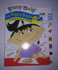 1 Brainy Baby Vertical Right Tab Book creative thinking book. Brand New