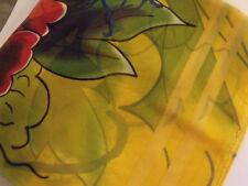 Foulard carré mousseline Scarf 100% Soie Silk 84 X 84 cm multicouleurs /new neuf