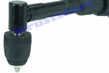 90 Degree Angle Drill 38 Keyless Chuck Bit Attachment Adapter Right Head Shaft