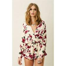 799c5e991d6 Stone Cold Fox Love Romper Rose Flower Floral shorts Playsuit 1 XS S long  sleeve