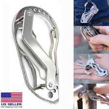 Quickdraw Carabiner Clip EDC KEYCHAIN Outdoor Belt Key Holder Organizer Tool NEW