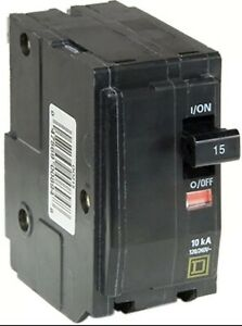 Square D Circuit Breaker QO215 VAC 15 Amp Double Pole  New