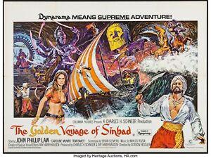 "THE GOLDEN VOYAGE OF SINBAD 1973 rare repro quad Cinema poster 30x40"""