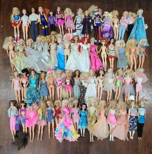 Lot of 60 Barbie, Disney Princess and Similar Size Fashion Dolls
