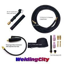 Weldingcity Dinse Rear Tig Welding Torch Wp 9f Flex Head 125a 125 Ft Air Cool