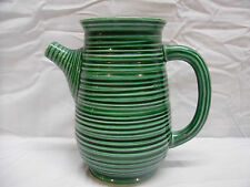 Vintage Green/Black Striped (McCoy, Hall, Shawnee, Haeger?) Pottery Pitcher