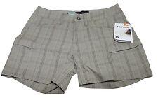 Womens Marmot Ani Plaid 69360 Sandstorm UPF/UV 40 Walking Shorts Sz 4 NWT $58