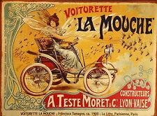 LA MOUCHE french car vintage old antique modern art print painting large