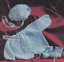 COAT & BOOTEES / size 6 months - cotton 4ply  - COPY crochet pattern