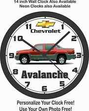 CHEVROLET AVALANCHE PICKUP WALL CLOCK-FREE USA SHIP