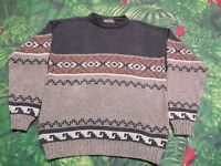 John Rich and Bros Woolrich Holiday Winter Sweater Size Large U.S.A