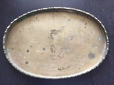 Fine Old Vintage Antique Chinese Brass Lady Woman Figure Art Tray Serving Plate