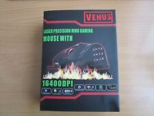 +VENUS MMO LASER GAMING MOUSE 16400 DPI USB EXCELLENT CONDITION+