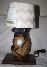 Handmade Synthetic Golf Clubs / Bag Table Lamp w/ Shade