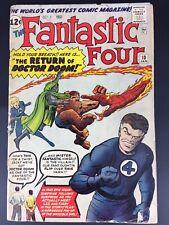 Fantastic Four #10 1963 Good+ Doctor Doom Appearance