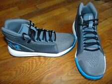 new boys under armour bgs torch mid size 5 youth gray/lblue/white msrp $75