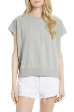 Free People Womens Short Sleeve OB569542 Sweatshirt Relaxed Grey Size XS