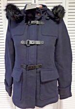 NWT Womens Vero Moda Lindsay Wool Jacket Coat Blazer Navy Blue Size XS MSRP $169