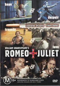 ROMEO & JULIET starring Leonardo DiCaprio (DVD, 2000) - LIKE NEW!!!