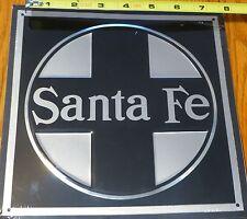 Microscale Metal Sign #10003 Santa Fe (Die Cut, Embossed Metal Sign)