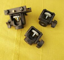 3x Manfrotto monpod heads 234   and 577  rapid release plate