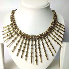 Golden Oxidize Fringe Necklace Choker Wedding Jewelry Tribal Boho Chic Gypsy A2