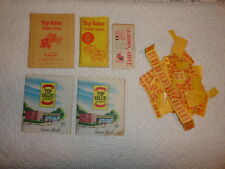 Lot of 5 TOP VALUE  TRADING STAMP  BOOKS and Various Unused Stamps